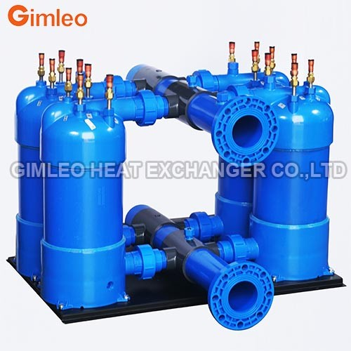 4-connected PVC Shell Titanium Heat Exchanger Condenser 156KW Swimming Pool Heat Pump